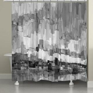 Laural Home Monochromatic Brushstrokes Shower Curtain
