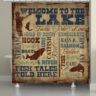 Laural Home Fish Tales Shower Curtain