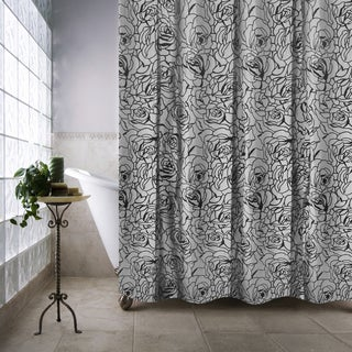 Park B. Smith Cabbage Rose Luxury Watershed Shower Curtain
