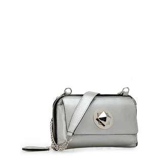 Jasbir Gill JG-219 Silver Leather Clutch (India)