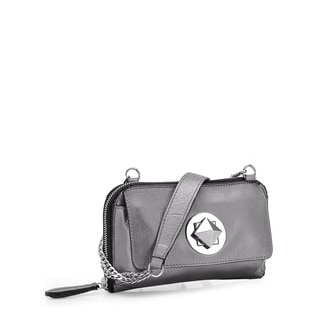 Jasbir Gill JG-221 Grey Leather Clutch (India)