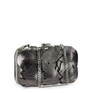 Jasbir Gill JG-237 Grey Leather Clutch (India)