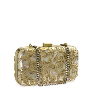 Jasbir Gill JG-239 Gold Leather Clutch (India)