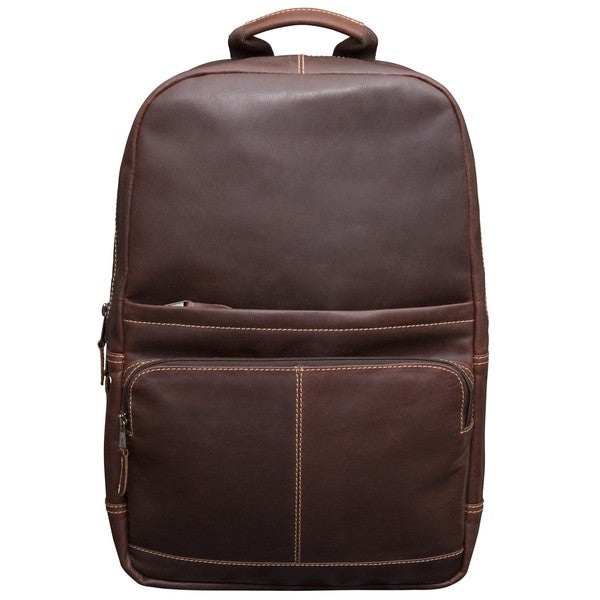 Canyon Outback Leather Kannah 17-inch long Leather Laptop Backpack