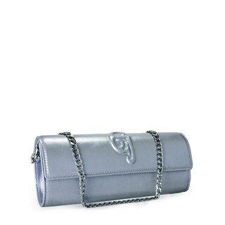 Jasbir Gill JG-207 Silver Leather Clutch (India)