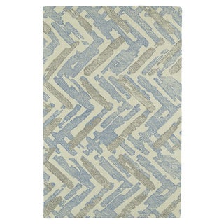 Hand-Tufted Mi Casa Ivory Zig-Zag Rug (8' x 10')