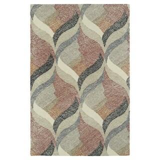 Hand-Tufted Mi Casa Multi Waves Rug (3'6 x 5'6)