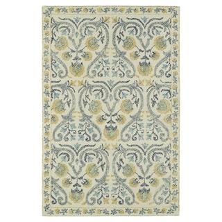 Hand-Tufted Mi Casa Ivory Garden Rug (9' x 12')