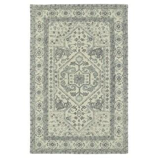 Hand-Tufted Mi Casa Ivory Heriz Rug (3'6 x 5'6)