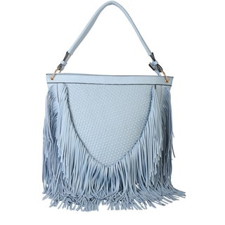 Diophy Cone Shaped Fringed Hobo Handbag
