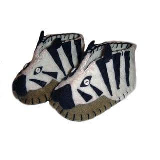 Handcrafted Felt Zebra Zooties Baby Booties (Kyrgyzstan)