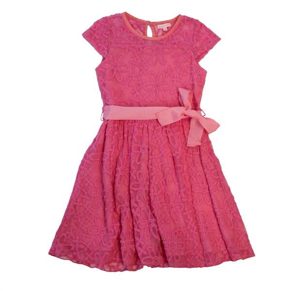 DownEast Basics Girl's Knee Length Sun Dress