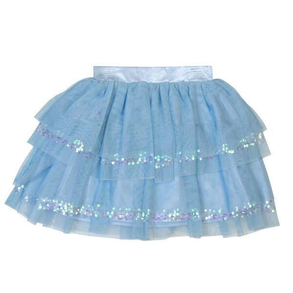 Downeast Outfitters Girl's Tulle Layered Sequined Skirt