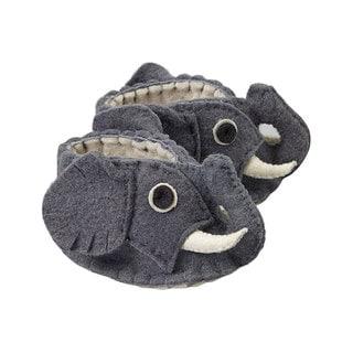 Handcrafted Felt Elephant Zooties Baby Booties (Kyrgyzstan)