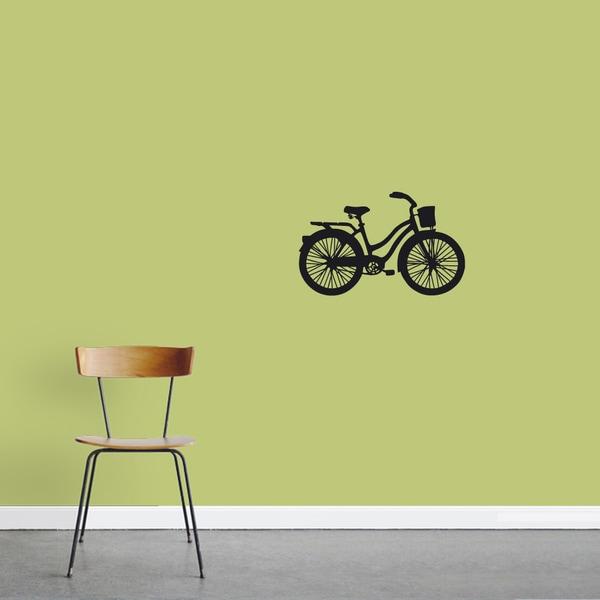 Vintage Cruiser Bike Wall Decal 24-inch wide x 15-inch tall