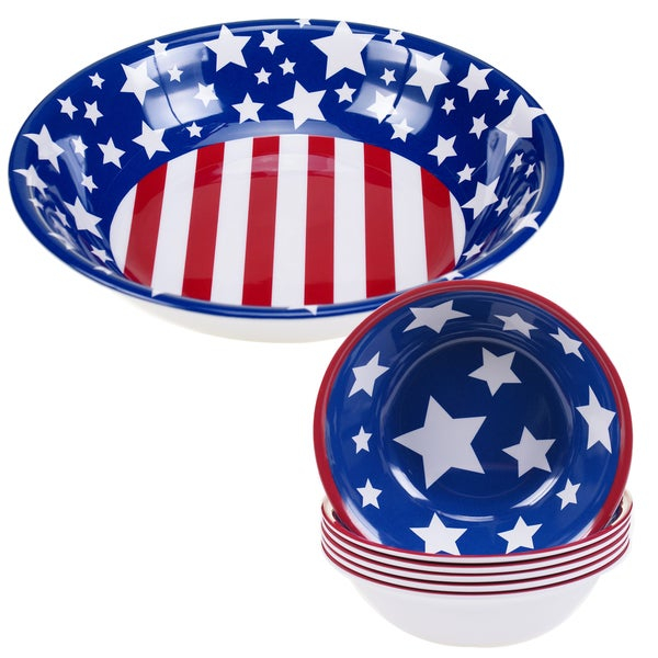 Certified International Stars & Stripes 5-piece Melamine Salad/Serving Set 17516988