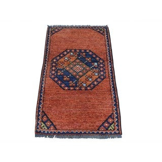 Afghan Ersari Elephant Feet Handmade Oriental Rug (1'10 x 3'3)