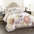 Lush Decor Aster Quilted 5-piece Comforter Set