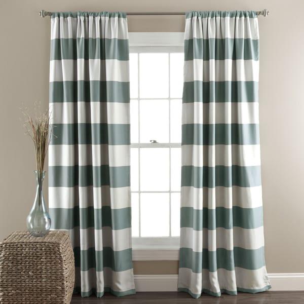 Lush Decor Stripe Blackout Curtain Panel Pair
