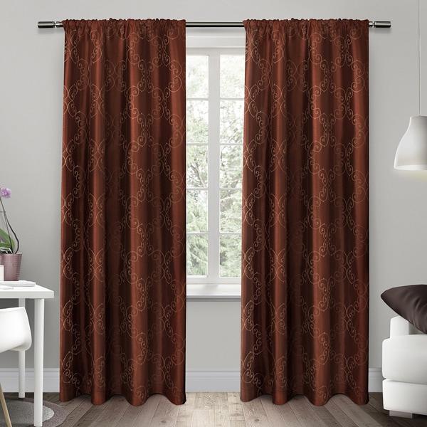 Como Rod Pocket Window Curtain Panel Pair