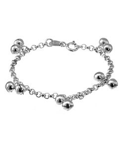 Journee Collection Toddler Sterling Silver Jingle Bracelet