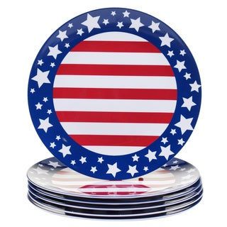 Certified International Stars & Stripes 11-inch Melamine Dinner Plates (Set of 6)