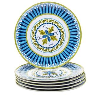 Certified International Blue Grotto 9-inch Melamine Salad Plates (Set of 6)