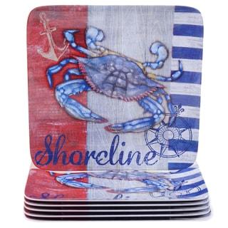 Certified International Maritime 10.5-inch Melamine Crab Dinner Plates (Set of 6)