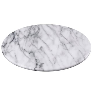 """Creative Home White Marble 12"""" Lazy Susan, Rotating Serving Board"""