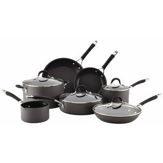 Circulon Momentum Hard-Anodized Nonstick 11-Piece Cookware Set (Gray)