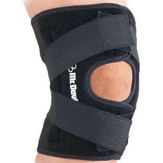 McDavid Classic 4195 Level 2 Knee Support with Adjustable Cross Straps (Black)