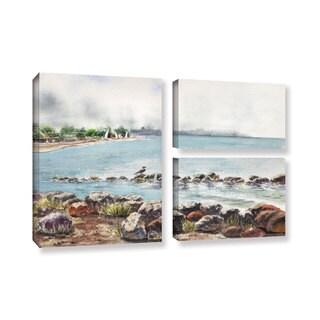 ArtWall 'Irina Sztukowsi's Hazy Morning Crab Cove' 3-piece Gallery Wrapped Canvas Flag Set