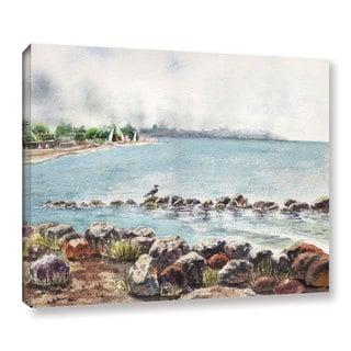 ArtWall 'Irina Sztukowsi's Hazy Morning Crab Cove' Gallery Wrapped Canvas
