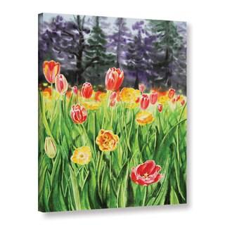 ArtWall 'Irina Sztukowsi's Landscape With Tulip Garden' Gallery Wrapped Canvas