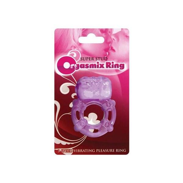 Hott Products Super Stud Orgasmix Vibrating Ring, Purple, 1 ea 17519498