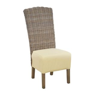 Crafted Home's Renee Driftwood Rattan Side Chair