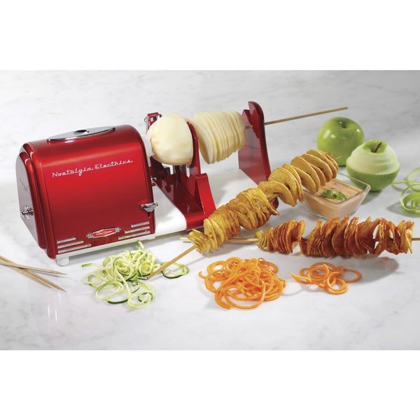 Nostalgia PT300RETRORED '50s-Style Electric Spiral Twister and Peeler