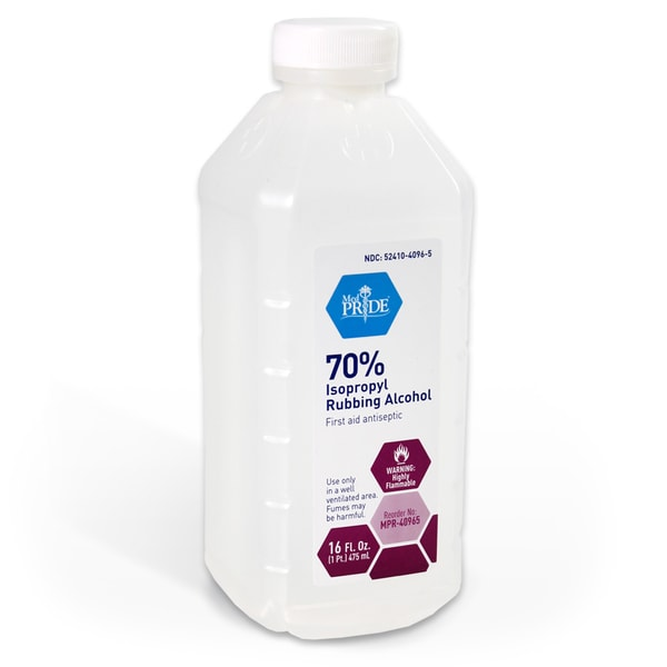 16-ounce Rubbing Alcohol 70-percent Isopropyl (Case of 24)