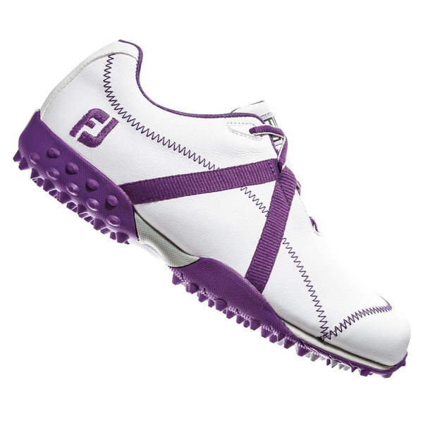 FootJoy M Project 95622 2014 Women's White/ Purple Spikeless Golf Shoes