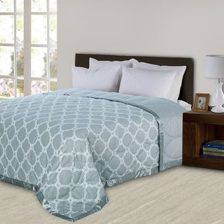Fusion 300 Thread Count 550 Fill Power Classic Trellis Ultra Down Reversible Blanket