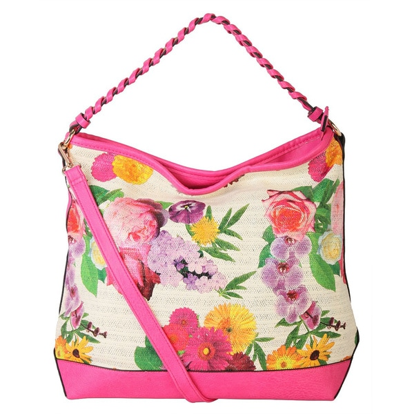 Diophy Floral Hobo Handbag