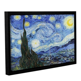 ArtWall 'Vincent VanGogh's Starry Night (Lighter version)' Gallery Wrapped Floater-framed Canvas