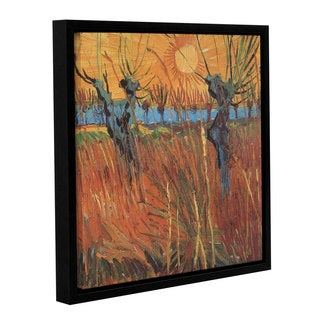 ArtWall 'Vincent VanGogh's Pollard Willows with Setting Sun (Willows at Sunset)' Gallery Wrapped Floater-framed Canvas