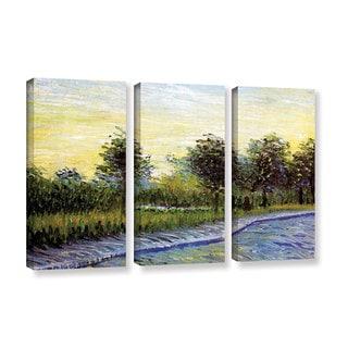 ArtWall 'Vincent VanGogh's Lane in Voyer d'Argensom Park at Asnieres' 3-piece Gallery Wrapped Canvas Set