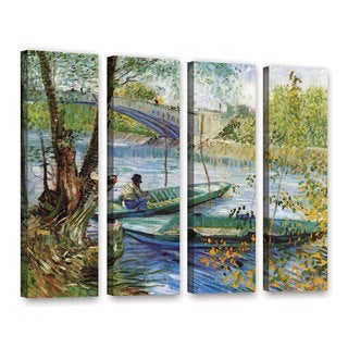 ArtWall 'Vincent VanGogh's Fishing in Spring' the Pont de Clichy (Asnieres)' 4-piece Gallery Wrapped Canvas Set