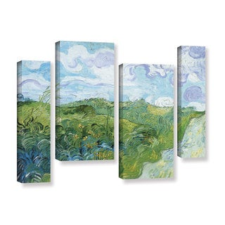 ArtWall 'Vincent VanGogh's Field with Green Wheat' 4-piece Gallery Wrapped Canvas Staggered Set