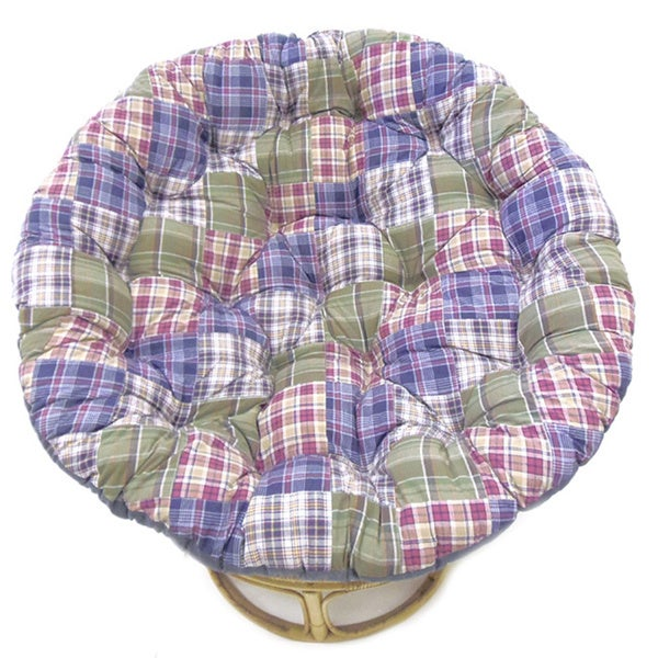 Celebration Blue Multi Patchwork Papasan Cushion