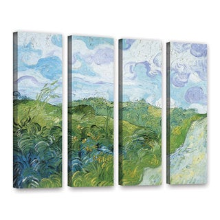 ArtWall 'Vincent VanGogh's Field with Green Wheat' 4-piece Gallery Wrapped Canvas Set