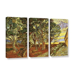 ArtWall 'Vincent VanGogh's A Corner of Saint-Paul Hospital' 3-piece Gallery Wrapped Canvas Set