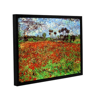 ArtWall 'Vincent VanGogh's Poppy Field' Gallery Wrapped Floater-framed Canvas
